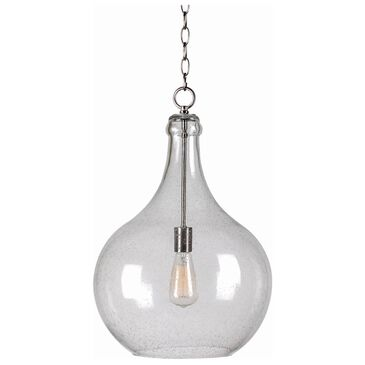 Kenroy Rhone 1-Light Pendant in Brushed Silver, , large