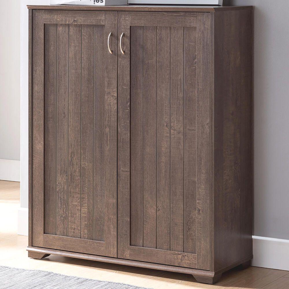 Furniture of America Bryan 5-Shelf Shoe Cabinet in Walnut Oak, , large