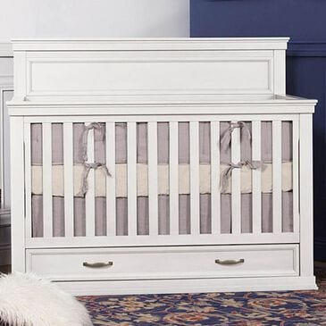 Franklin & Ben Langford 4-in-1 Convertible Storage Crib in Warm White, , large