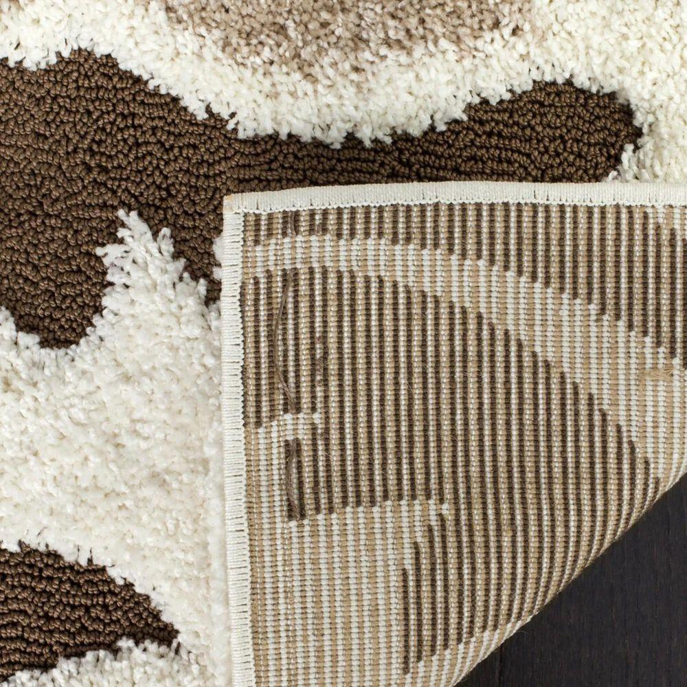 Safavieh Florida Shag SG463-1128 8' x 10' Cream and Dark Brown Area Rug, , large