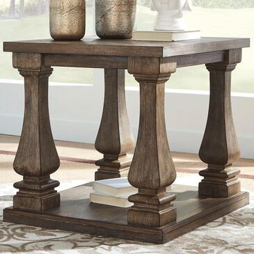 Signature Design by Ashley Johnelle End Table in Weathered Gray, , large