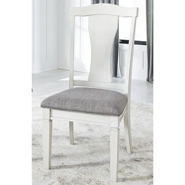 Signature Design by Ashley Nashbryn Dining Splat Side Chair in Whitewash, , large