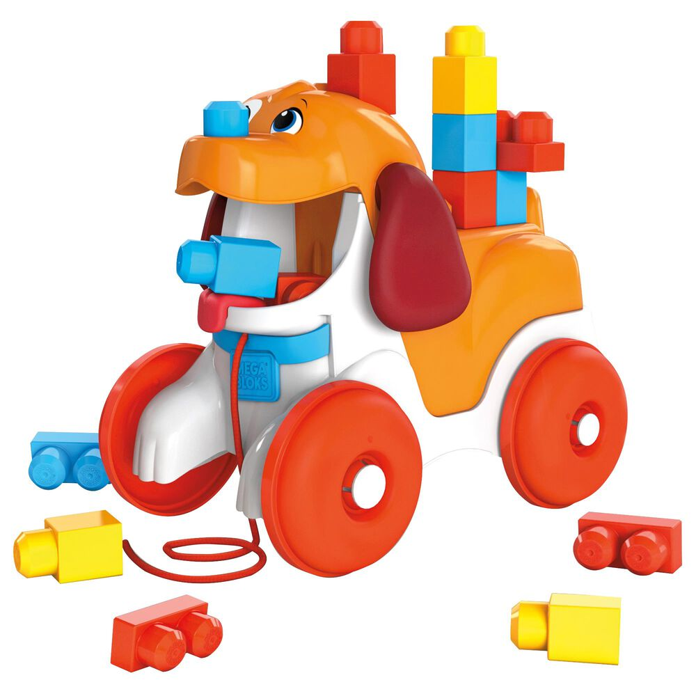 Mattel Mega Bloks Pull Along Puppy Building Set, , large