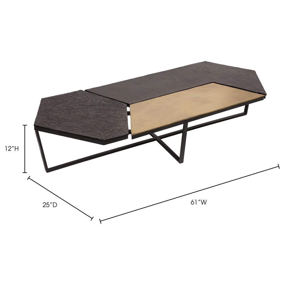 Moe's Home Collection Kampas Coffee Table in Yellow, , large