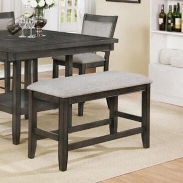 Claremont Fulton Counter Height Bench in Gray, , large