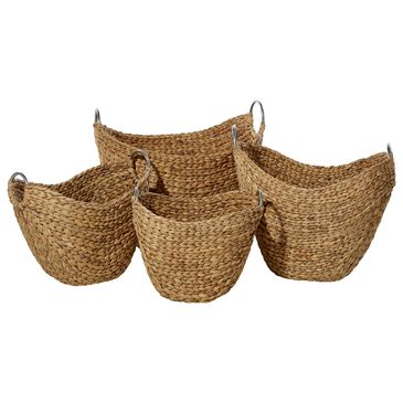 Maple and Jade Assorted Baskets in Brown (Set of 4), , large