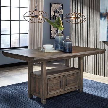 Signature Design by Ashley Johurst Rectangular Counter Table in Grayish Brown - Table Only, , large