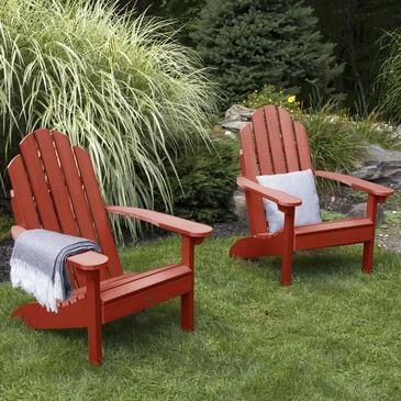 Highwood USA Classic Westport Adirondack Chair in Rustic Red (Set of 2), , large