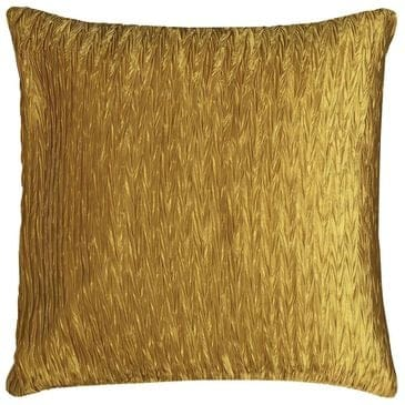 """Rizzy Home 18"""" x 18"""" Poly Fill Pillow in Gold, , large"""