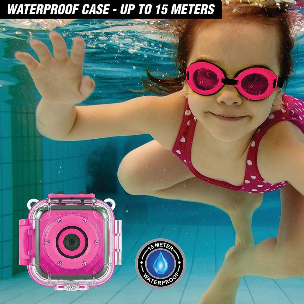 Volkano Kids Funtime Series Action Camera in Pink, , large