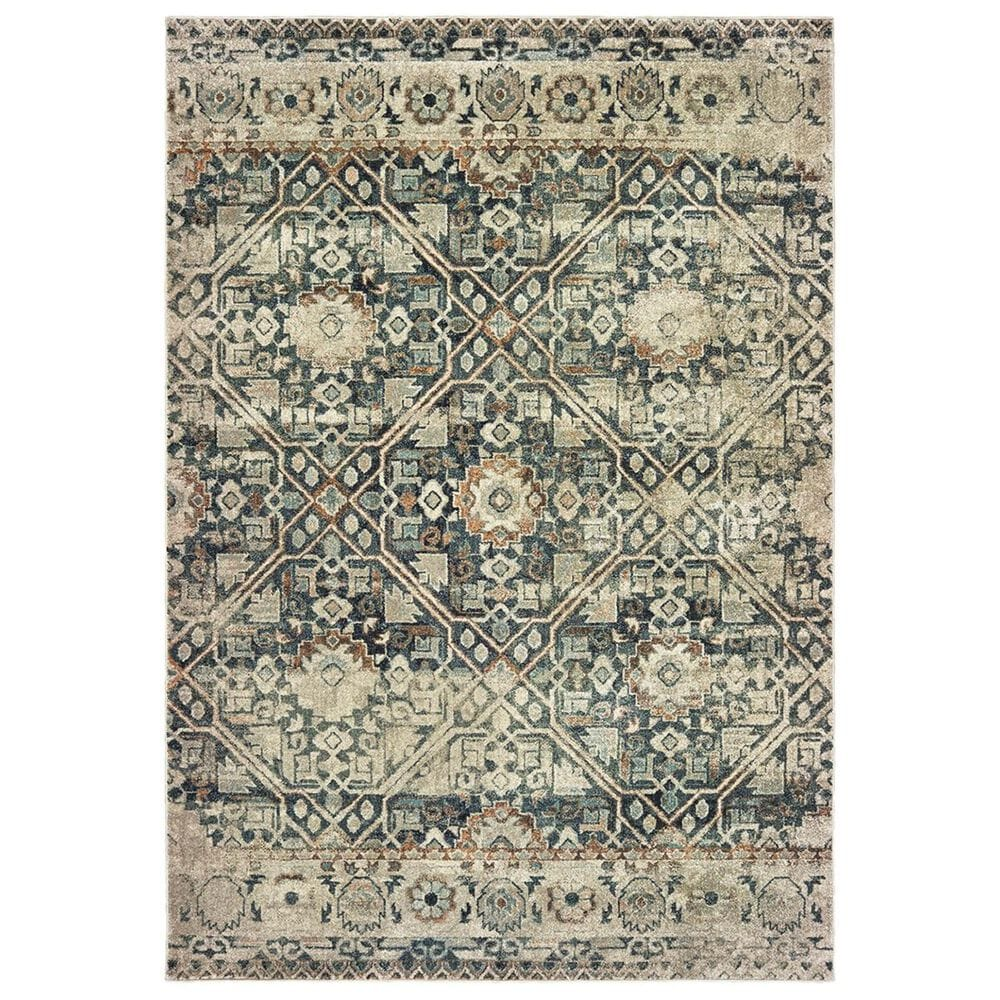"""Oriental Weavers Raleigh 4925L 2'3"""" x 7'6"""" Blue Runner, , large"""