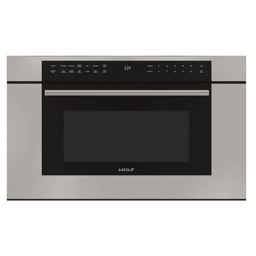 """Wolf 30"""" M Series Transitional Drop-Down Door Microwave Oven in Stainless Steel, , large"""