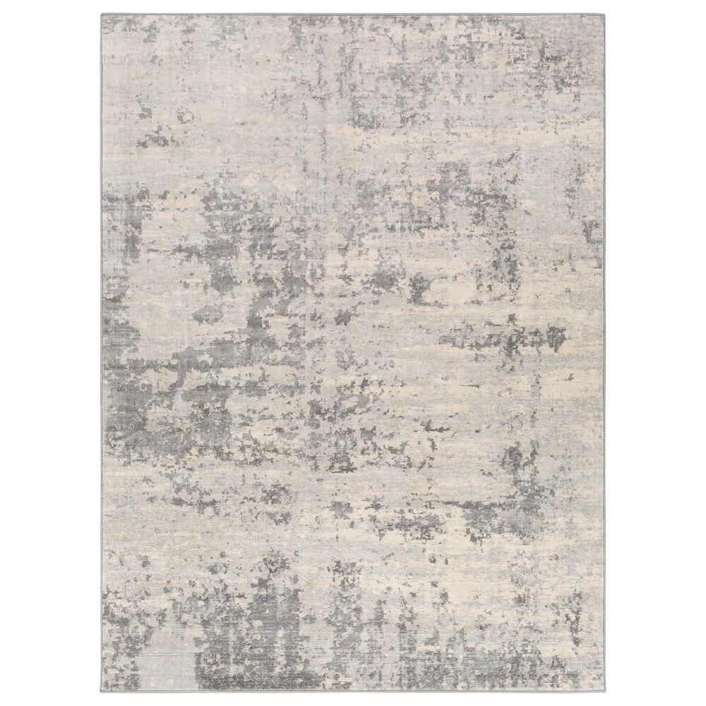 "Surya Monaco MOC-2311 5'3"" x 7'3"" Silver Gray and Cream Area Rug, , large"