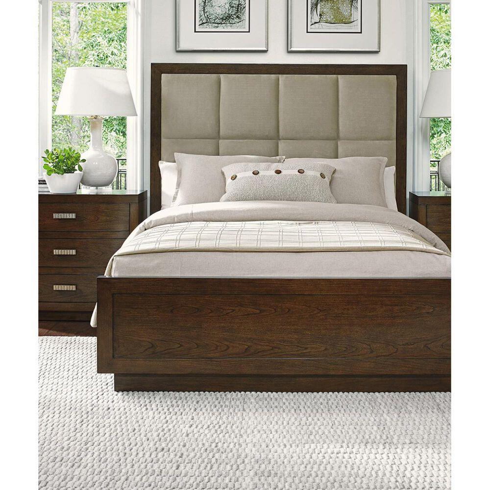 Lexington Furniture Laurel Canyon Casa Del Mar California King Upholstered Bed in Medium Brown, , large