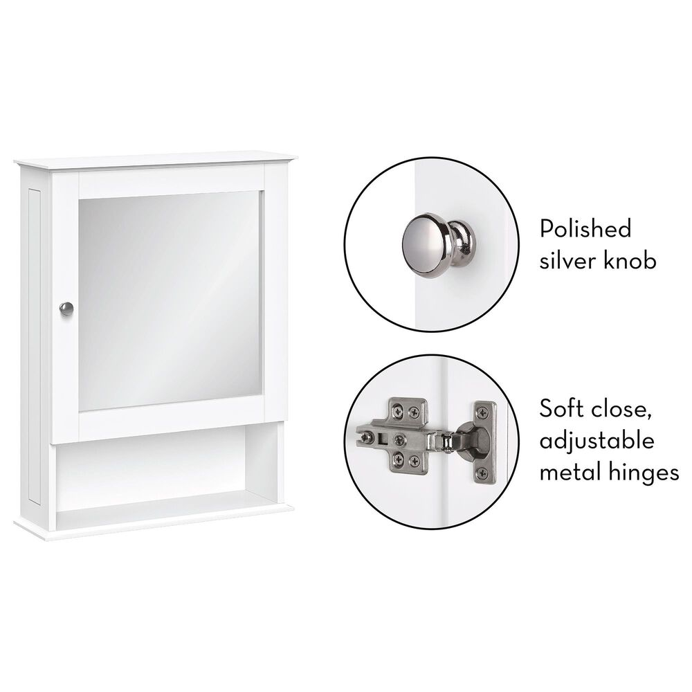 """RiverRidge Home Ashland 18.5"""" Wall Cabinet with Mirror in White, , large"""