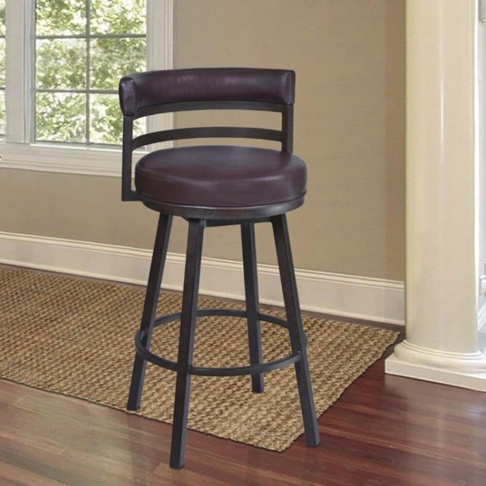 """Blue River Madrid 30"""" Barstool with Brown Back and Seat in Auburn Bay, , large"""
