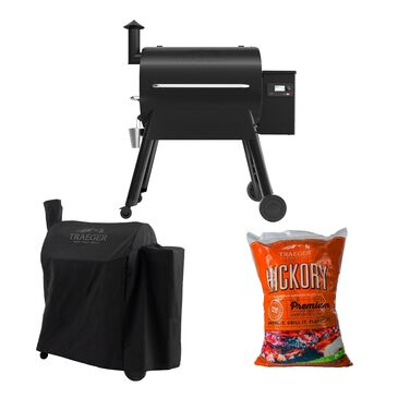 Traeger Grills Pro 780 Pellet Grill + Black Full Length Cover + Hickory Wood Pellets 20 lb Bag Package, , large