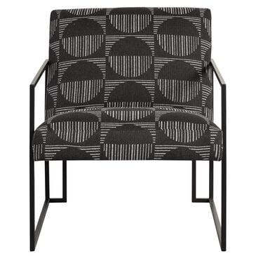 Fulton Home Mendel Metal Accent Chair in Unique Carbon, , large