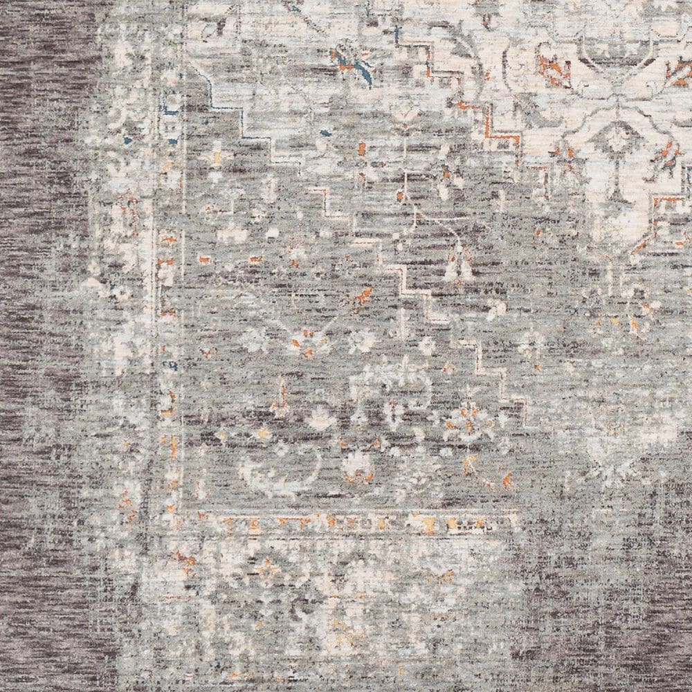 """Surya Presidential PDT-2311 2' x 3'3"""" Charcoal, Ivory, Blue and Orange Area Rug, , large"""