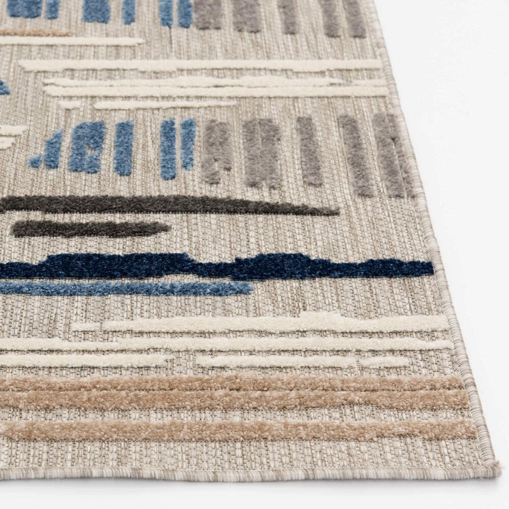 """Central Oriental Fontana Hadrian 1652.61 2'2"""" x 7'6"""" Gray and Blue Runner , , large"""