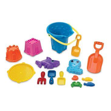 American Plastic Toys 15 Piece Sand Builder's Set, , large