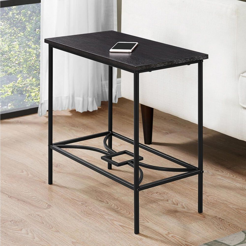 "Monarch Specialties 22"" Accent Table in Cappuccino and Black, , large"