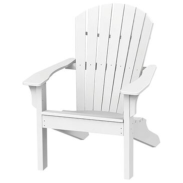 Oceanside Shell Back Adirondack Chair in White, , large