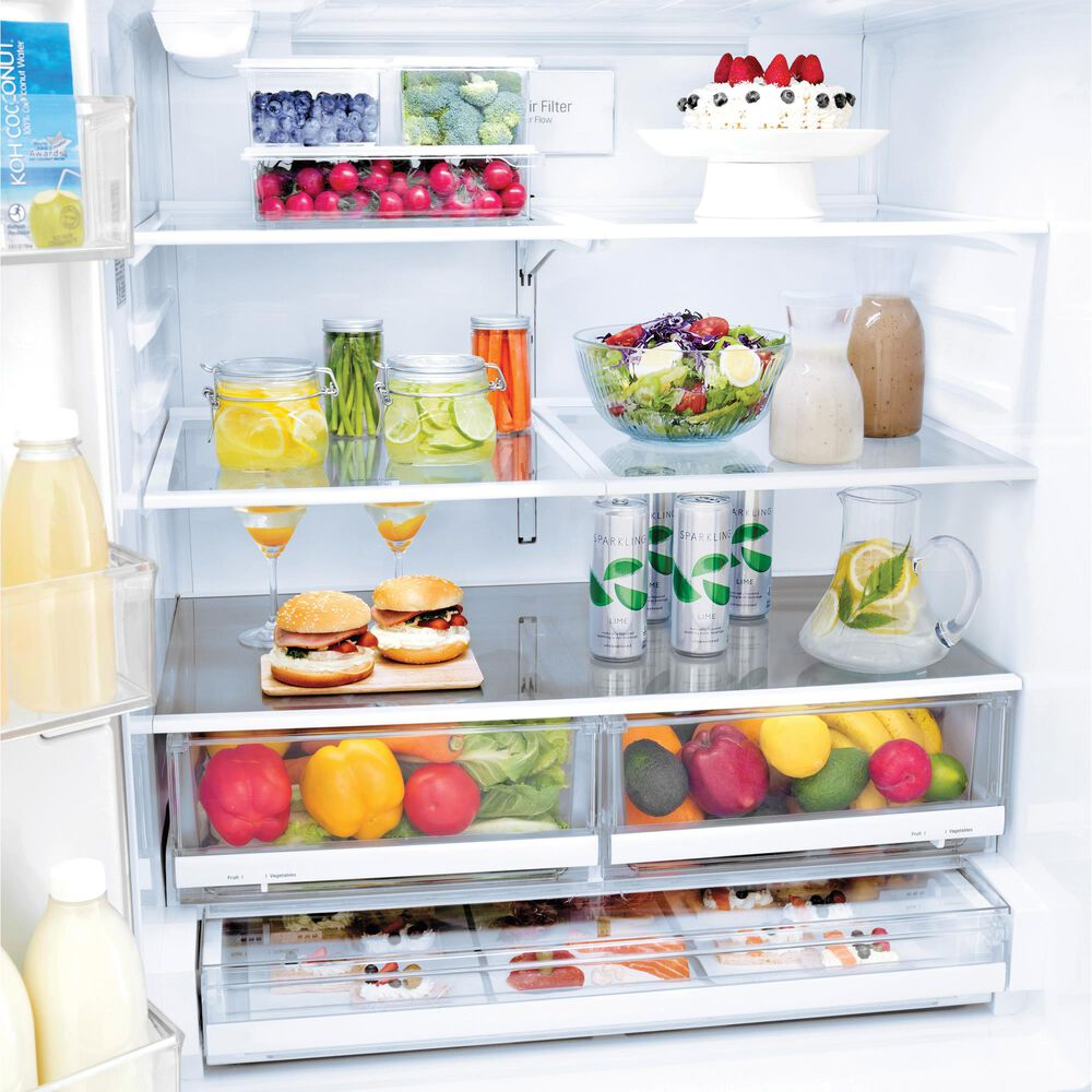 LG 22 Cu. Ft. 3-Door Counter Depth French Door Refrigerator in Stainless Steel with Dual Icemakers , , large