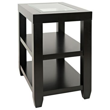 Waltham Urban Icon Chairside Table in Polished Black, , large