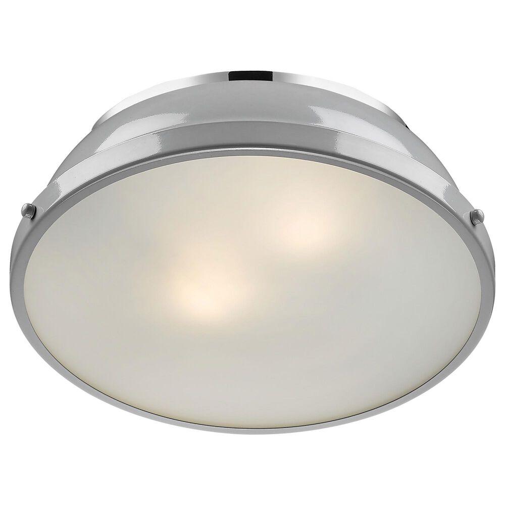 "Golden Lighting Duncan 14"" Flush Mount in Chrome and Glossy Gray, , large"