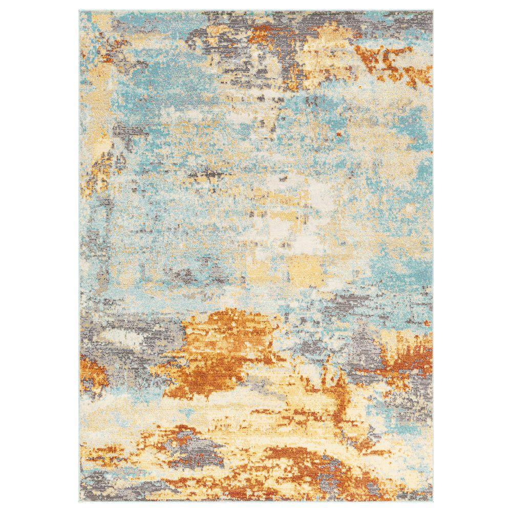 "Surya Bodrum '10"" x 10' Orange, Gray and Aqua Area Rug, , large"