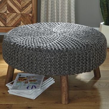 Signature Design by Ashley Jassmyn Oversized Accent Ottoman in Charcoal, , large
