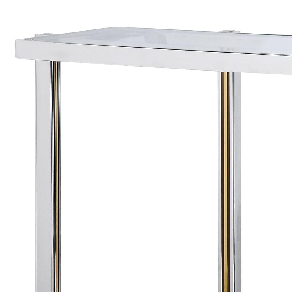 Uttermost Locke Console Table in Silver, , large