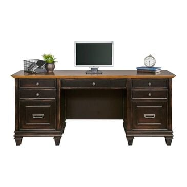 Wycliff Bay Hartford Credenza Desk in Black and Oak, , large