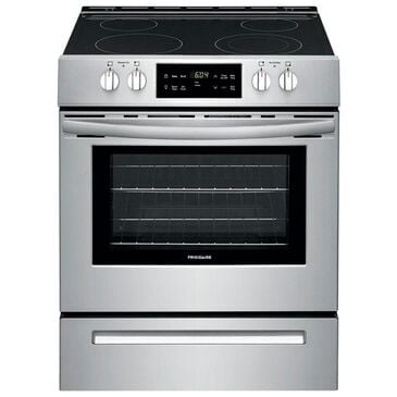 """Frigidaire 30"""""""" Front Control Electric Range in Stainless Steel, , large"""