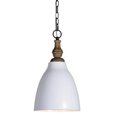Southern Lighting Calvin Pendant in White and Natural, , large