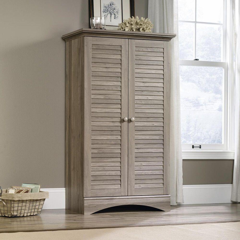 Living Essentials Harbor View Storage Cabinet in Salt Oak, , large