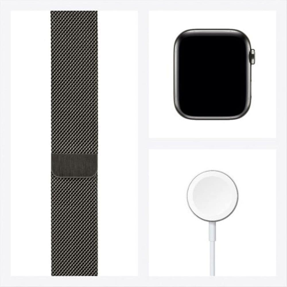 Apple Watch Series 6 GPS + Cellular, 44mm Graphite Stainless Steel Case with Graphite Milanese Loop, , large