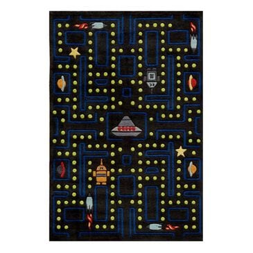 Little Dreamer Lil' Mo Whimsy LMF-14 3' x 5' Arcade Black Area Rug, , large