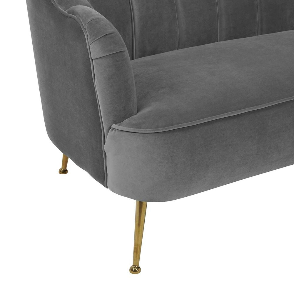 Tov Furniture Daisy Velvet Sofa in Grey, , large