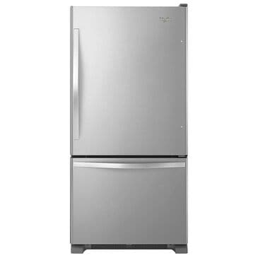 Whirlpool 19 Cu. Ft. Bottom-Freezer Refrigerator with SpillGuard Glass Shelves in Stainless Steel , , large