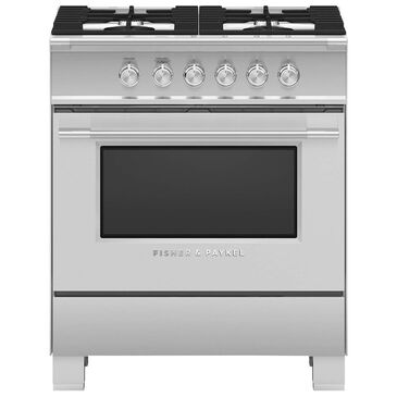 "Fisher and Paykel 30"" Freestanding Classic Gas Range in Stainless Steel, , large"