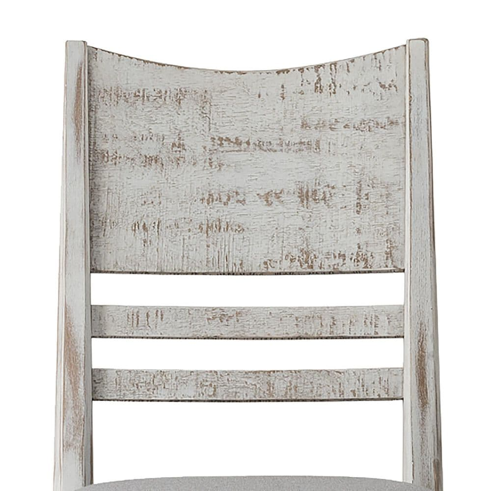 Hawthorne Furniture Modern Rustic Side Chair with Cushion in Weathered White, , large