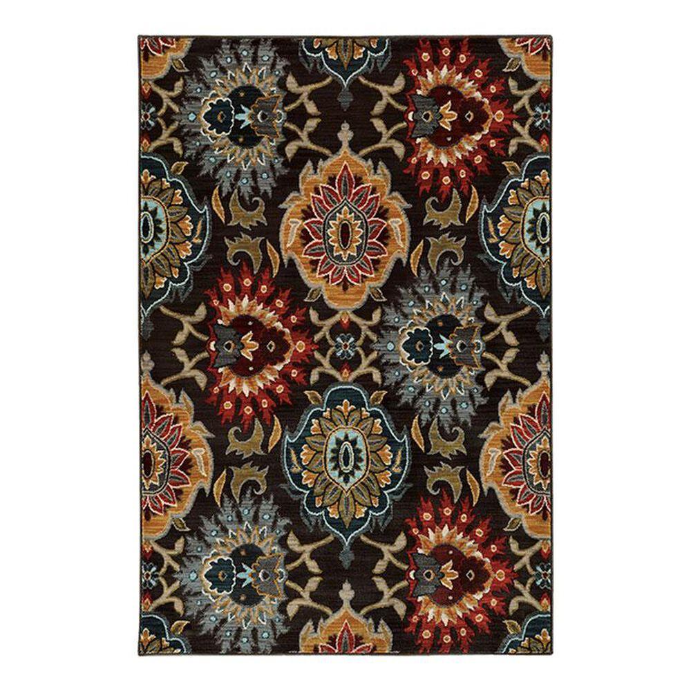 Oriental Weavers Sedona 6369D 1'10 x 3' Charcoal Scatter Rug, , large