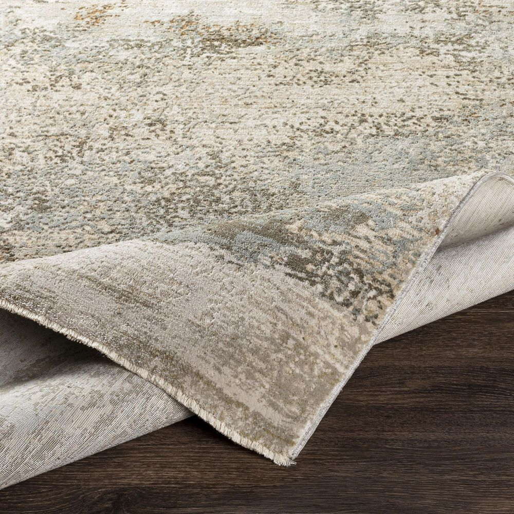 "Surya Brunswick 2'7"" x 7'3"" Sage, Gray, White, Blue and Brown Runner, , large"