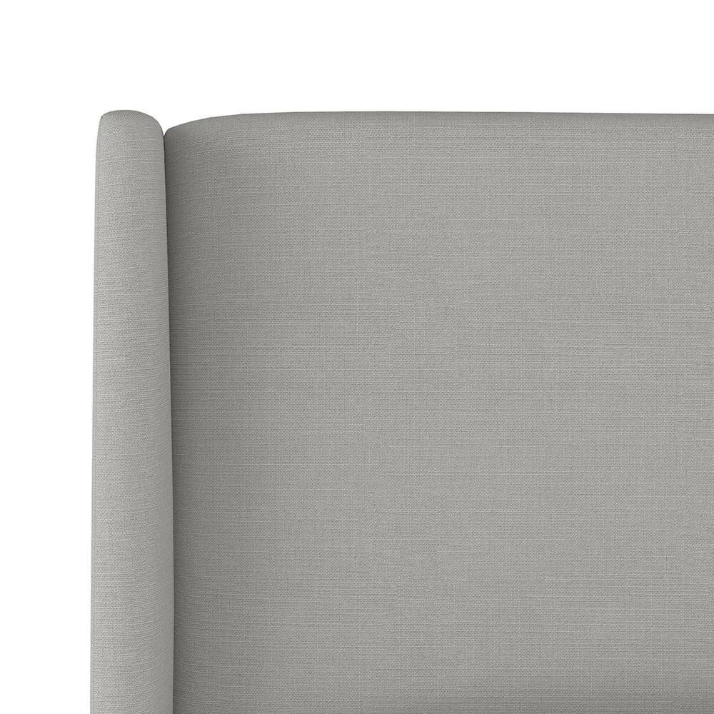 Skyline Furniture Queen Platform Bed in Linen Grey, , large