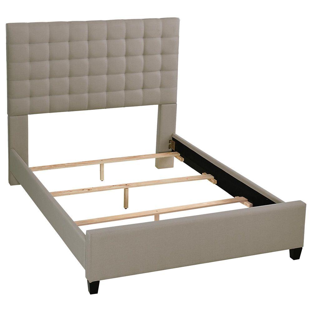 Richlands Furniture Bergen Queen Upholstered Bed in Dove Gray, , large