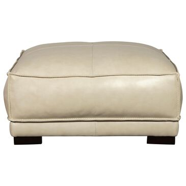 Sienna Designs Leather Ottoman in Cesena Panna White, , large