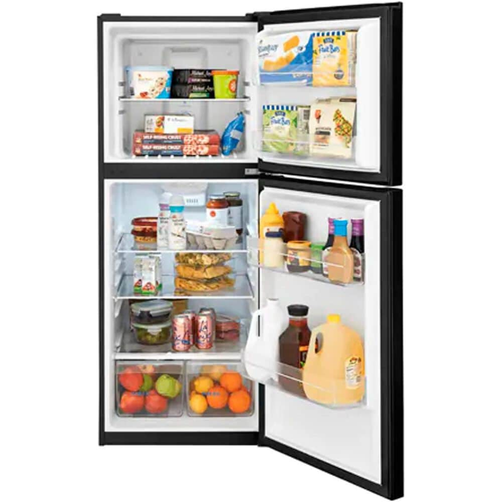 Frigidaire 10.1 Cu. Ft. Top Freezer Apartment Size Refrigerator in Black, , large