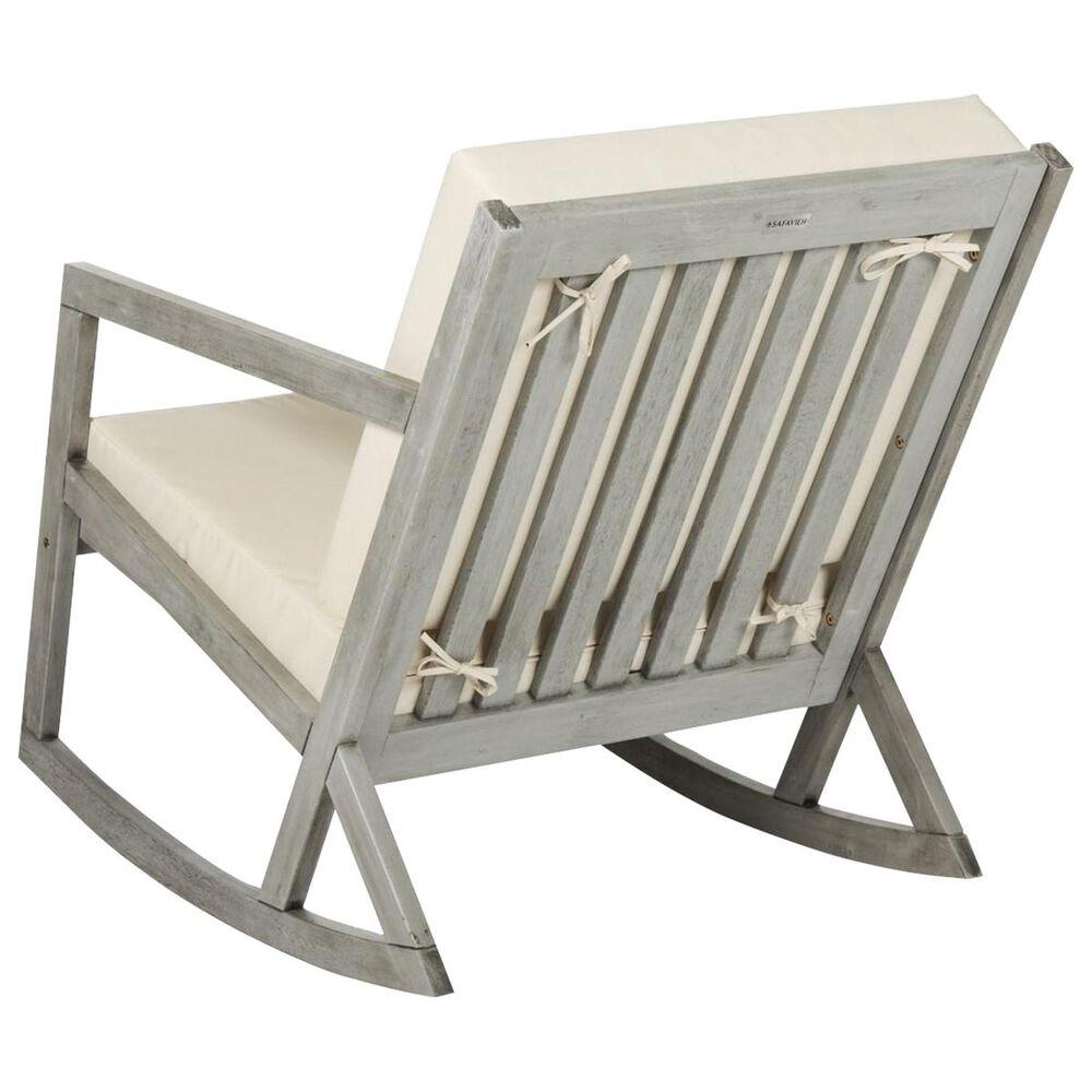Safavieh Vernon Rocking Chair in Grey/Beige, , large